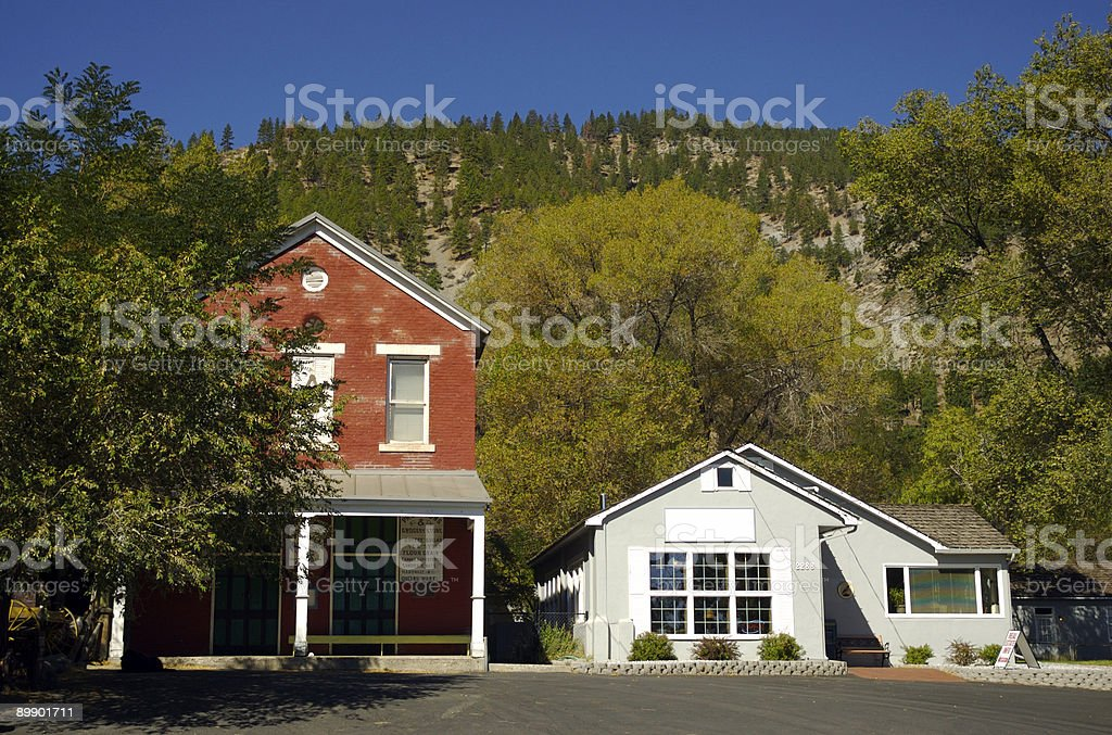 Small town architecture royalty-free stock photo
