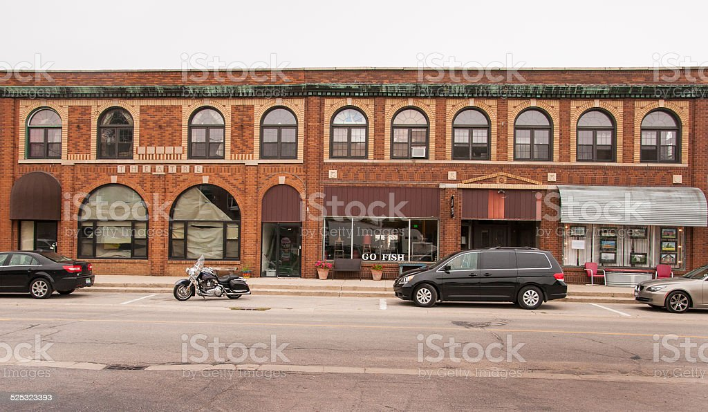 Small Town Business stock photo
