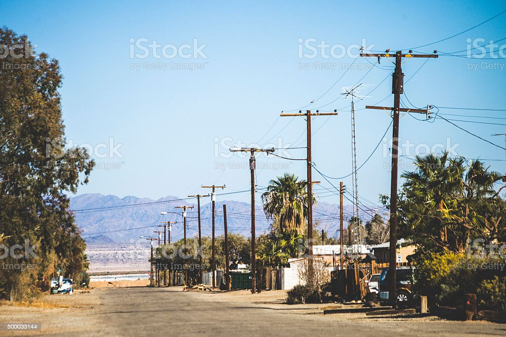 Small town, California. stock photo