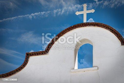 A small church near the border town of Hancock, Texas.