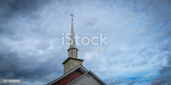 istock Small Town Church Steeple 1011039252