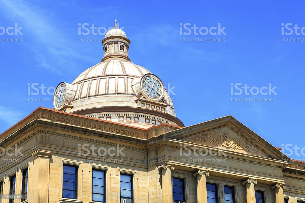 Small town city hall building royalty-free stock photo