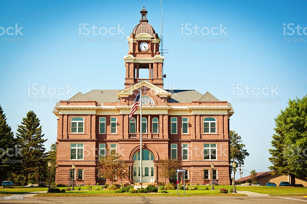 Small Town County Courthouse USA stock photo