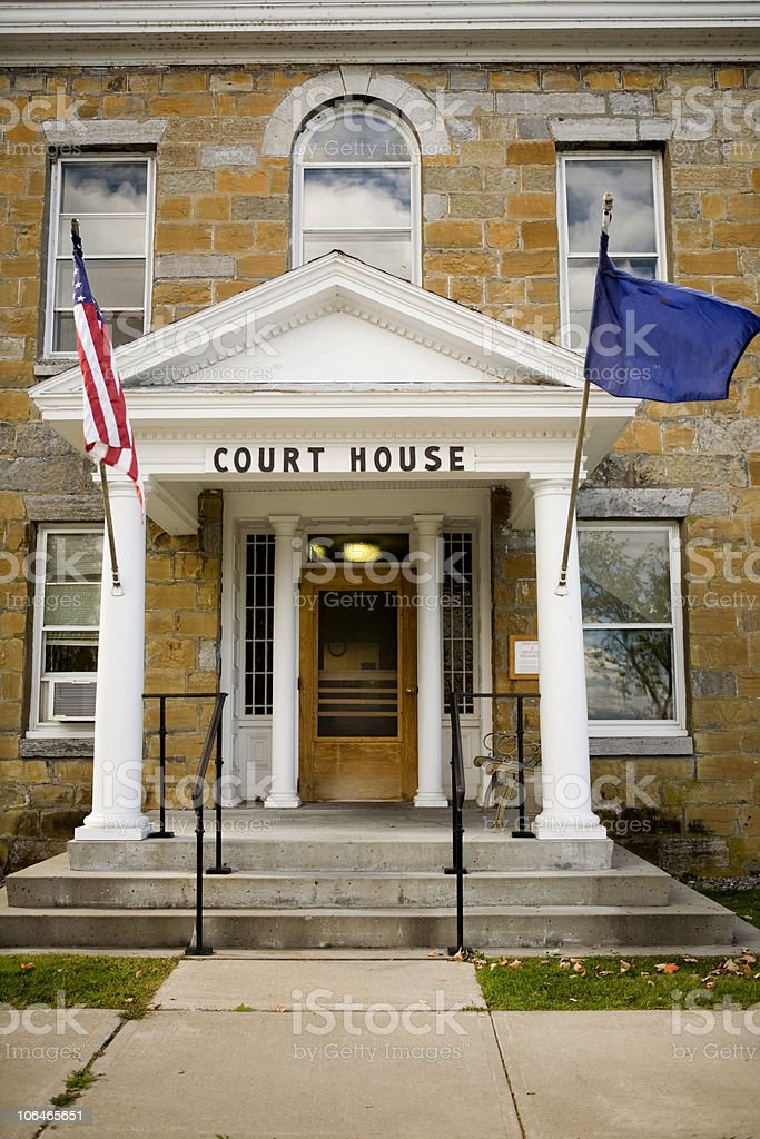 Small Town Court House - Cropped royalty-free stock photo