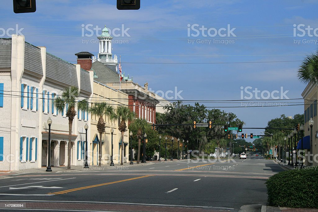 Small Town Downtown stock photo