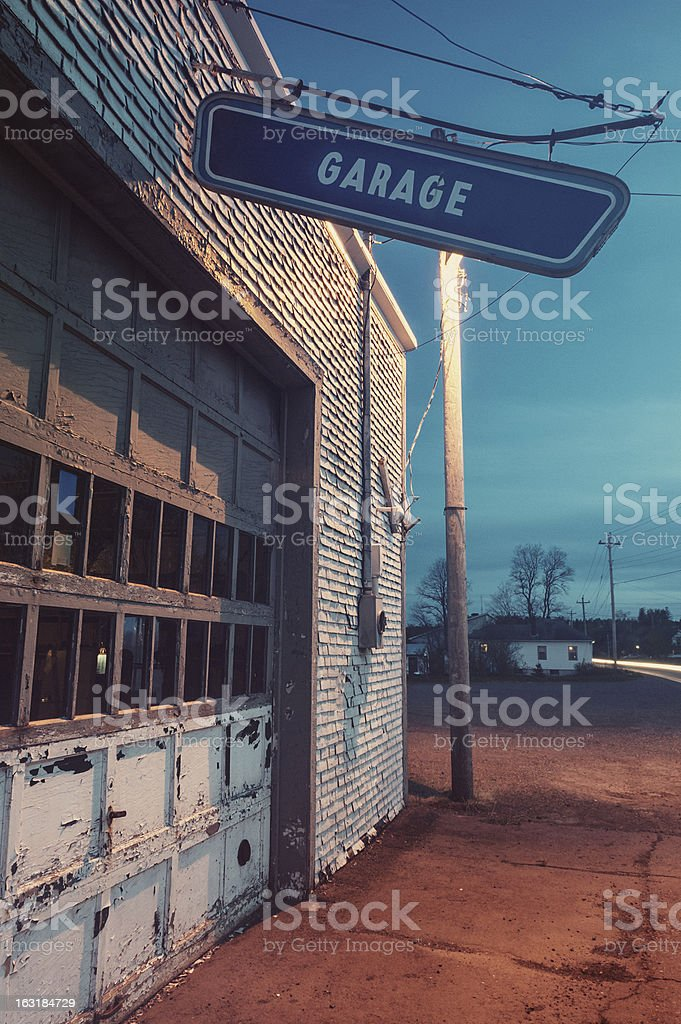 Small Town Garage royalty-free stock photo