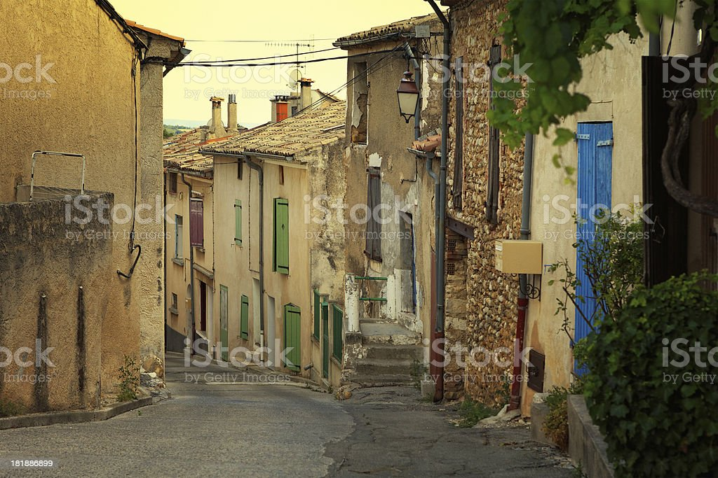 small town in Provence royalty-free stock photo
