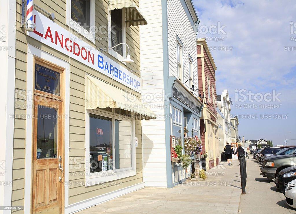 Small Town Langdon Alberta royalty-free stock photo