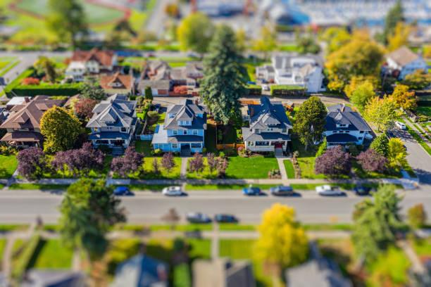Small Town Neighborhood stock photo