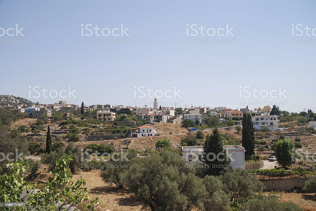 Small town on Chios royalty-free stock photo