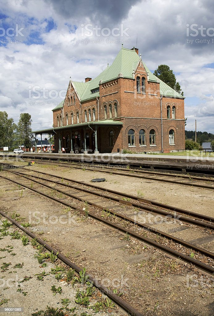 Small town train station royalty free stockfoto