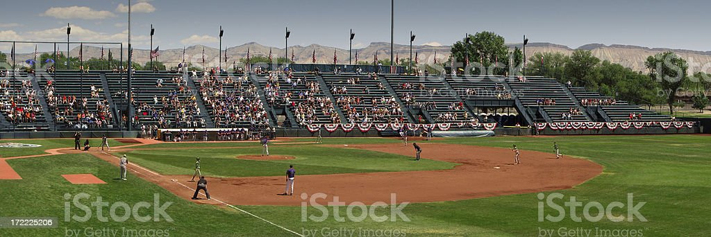 Small Town USA Baseball Ballpark stock photo