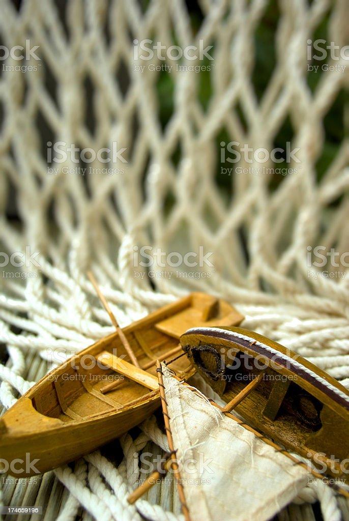 Juguete De Navegación En Pequeñas Embarcaciones De Pesca