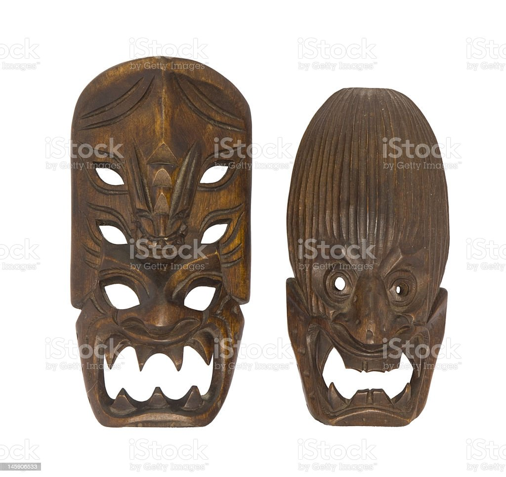 Small Traditional Ifugao Mask (Philippines) stock photo
