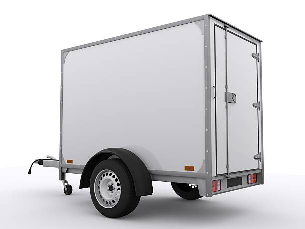 Small Trailer isolated Small Trailer isolated vehicle trailer stock pictures, royalty-free photos & images