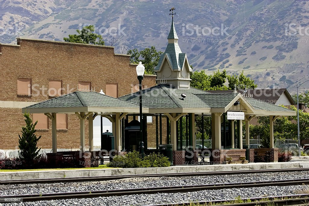 Small Train Station royalty-free stock photo