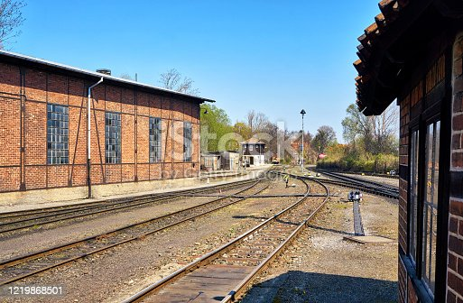 istock A small train station with old buildings for the narrow-gauge railway in Wernigerode. 1219868501