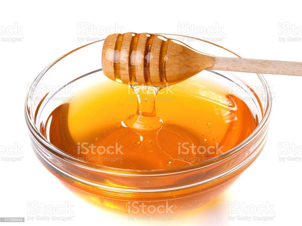 Small Transparent bowl of natural honey royalty-free stock photo