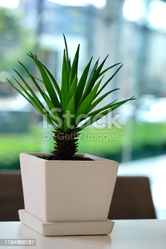 Small artificial indoor plant