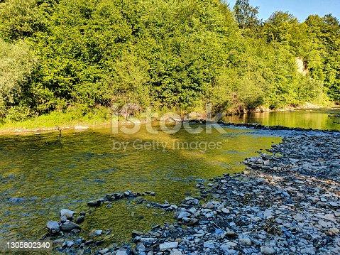 istock Small trip in poland near cuty dukla river 1305802340