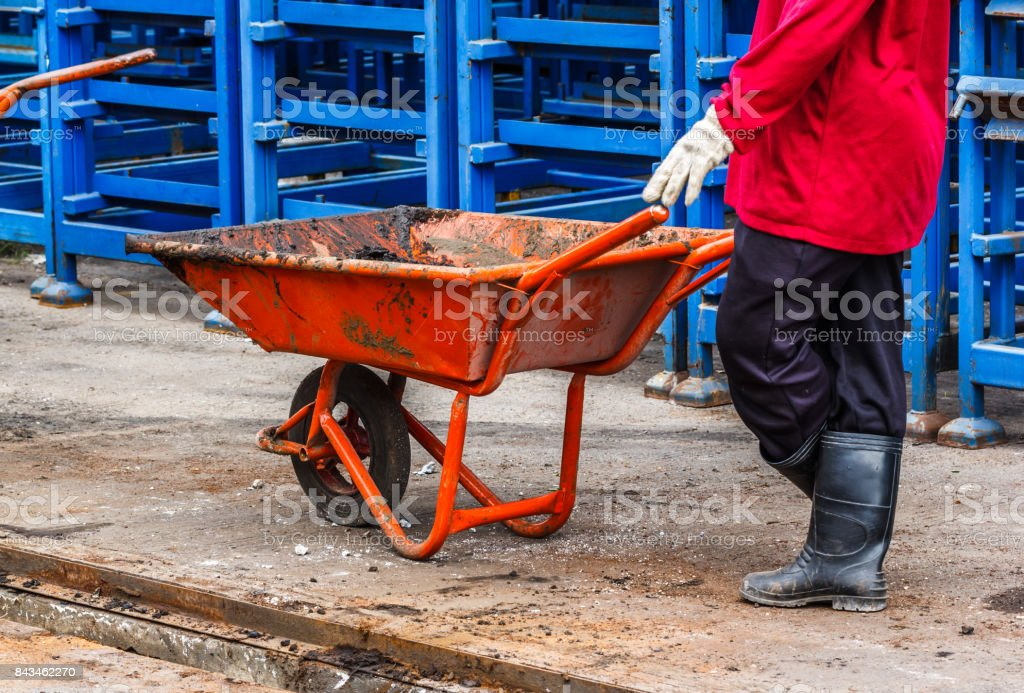 Small trolley stock photo