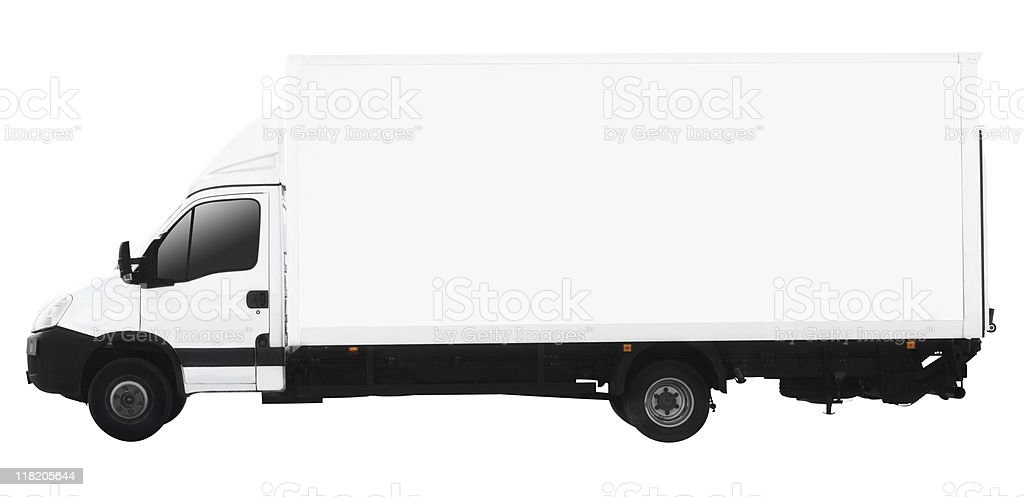 small truck (clipping path included) royalty-free stock photo