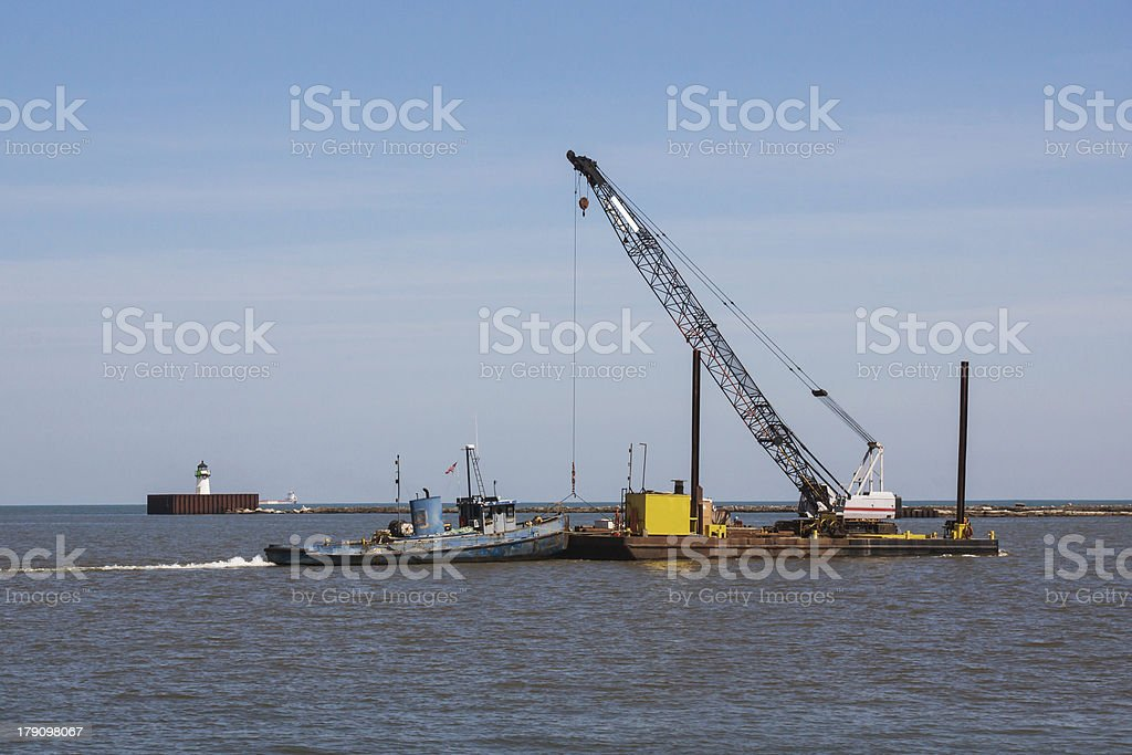 Small Tug And Barge royalty-free stock photo
