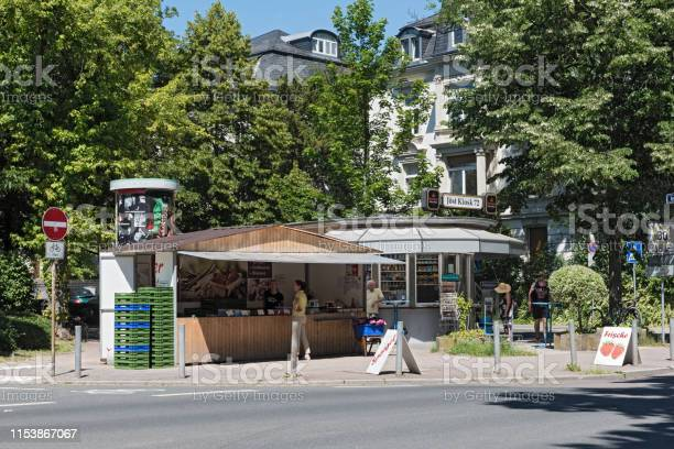 Small typical kiosk in the north of frankfurt am main germany picture id1153867067?b=1&k=6&m=1153867067&s=612x612&h=dsptkhdtbksjkitizhzktuo55mh wpsgdvjvijreyh8=