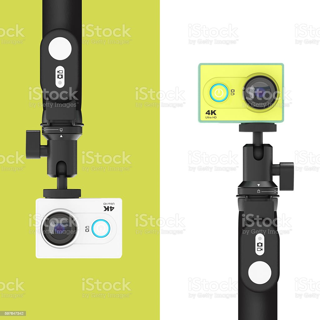 Small Ultra Hd Action Cameras With Extensible Selfie Stick