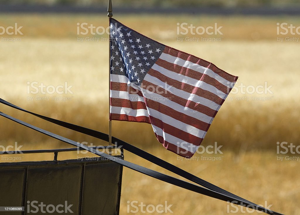 Small US flag. stock photo