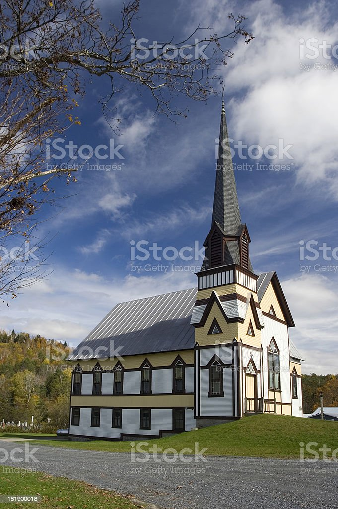 Small Vermont Church stock photo