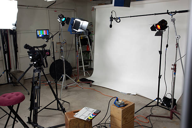 Small video studio stock photo