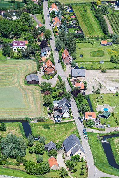 Small village aerial view​​​ foto