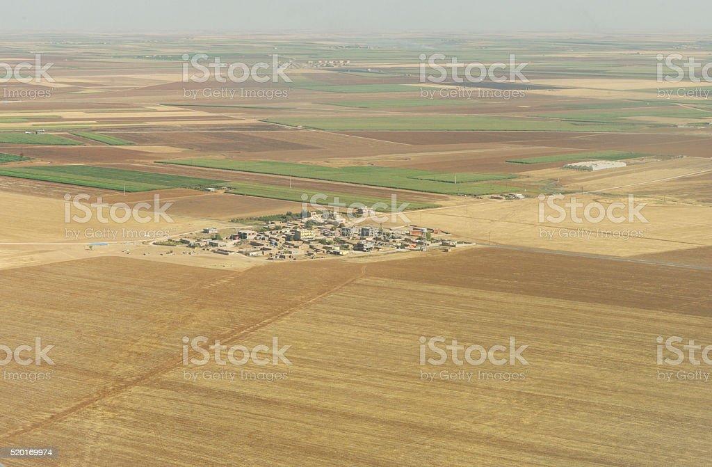 small village at mesopotamia plate near mardin turkey stock photo