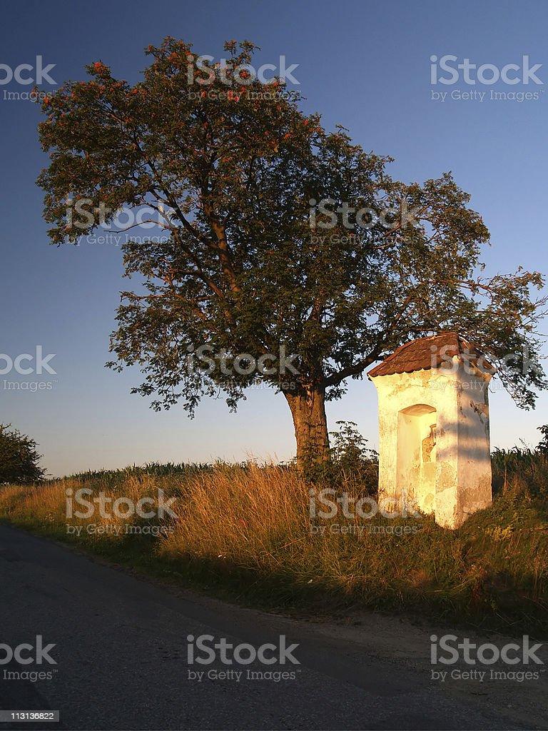 Small village chapel stock photo