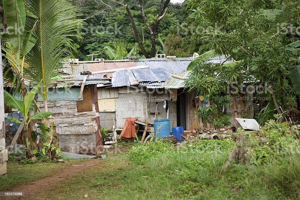 Small Village in Jamaica stock photo