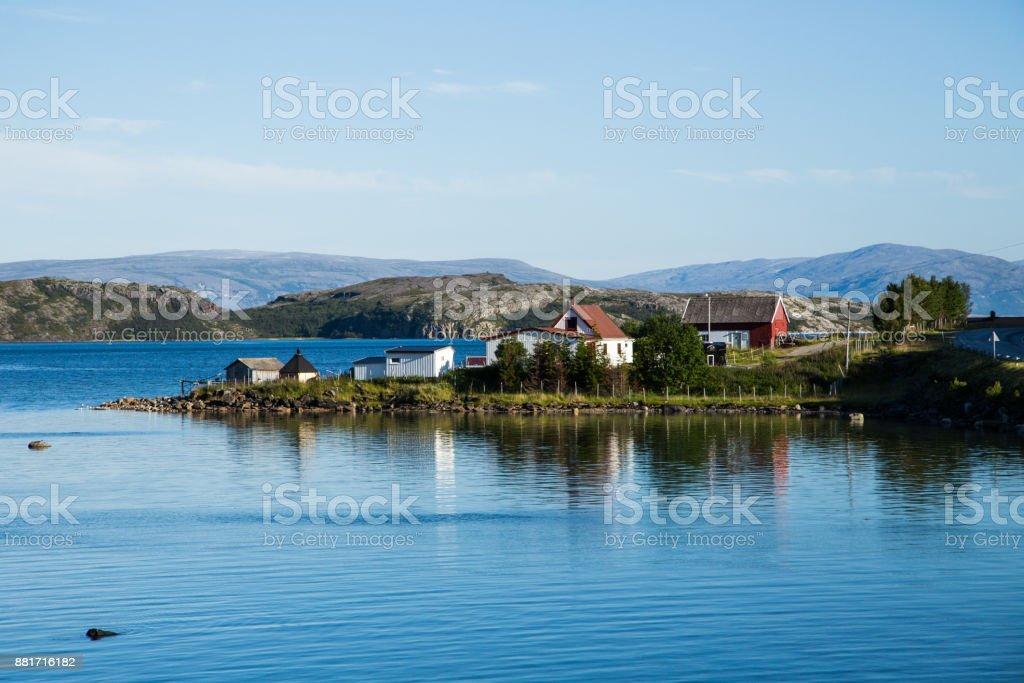 Kleine Dorf in Norwegen – Foto
