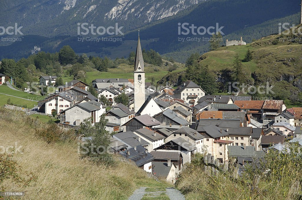 Small Village in Switzerland royalty-free stock photo