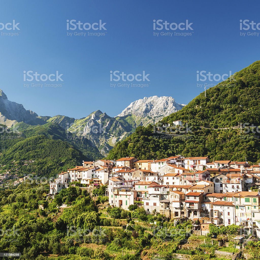 Small village in tuscany stock photo