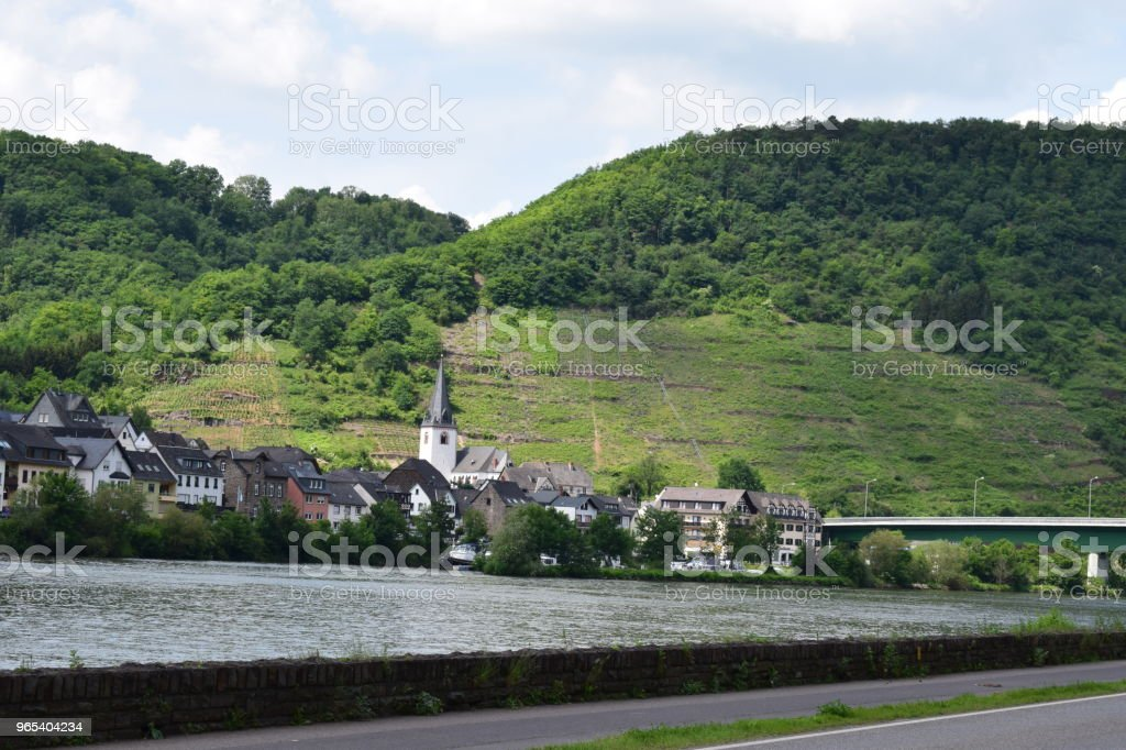 small village Löf at the Mosel valley royalty-free stock photo