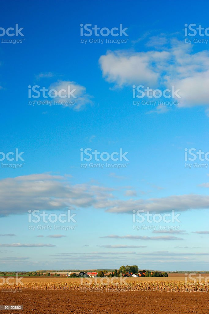 Small Village under a Big Sky royalty-free stock photo