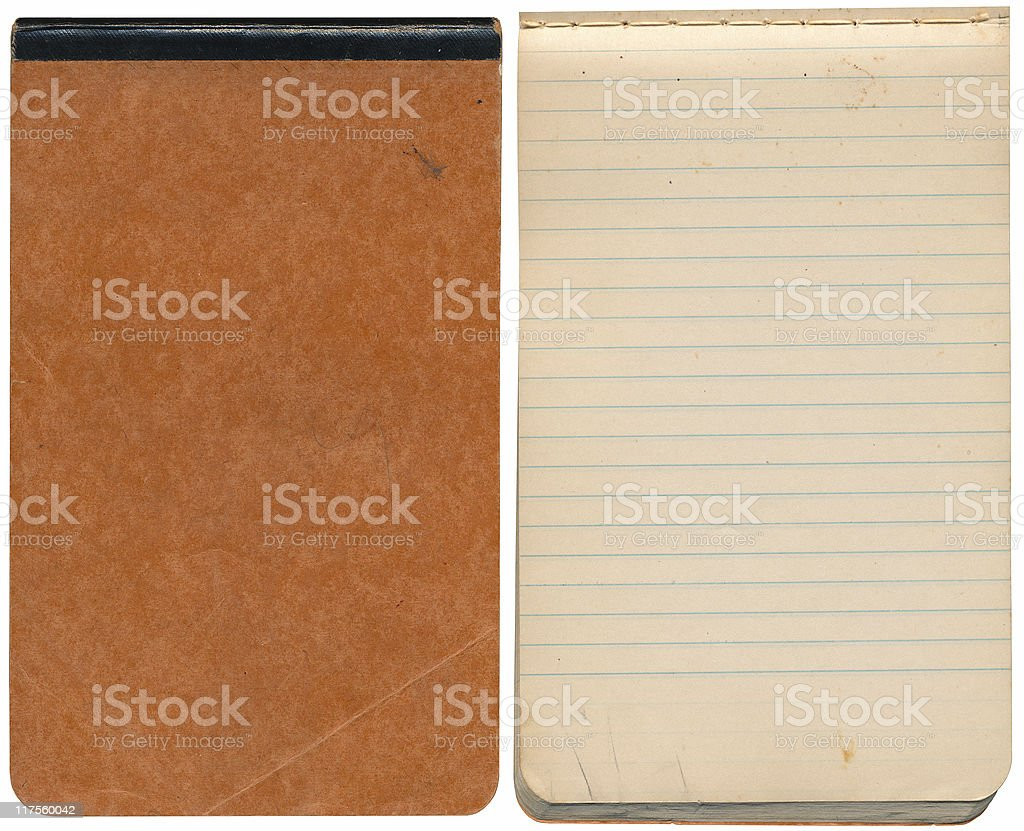 Small VIntage Notebook stock photo