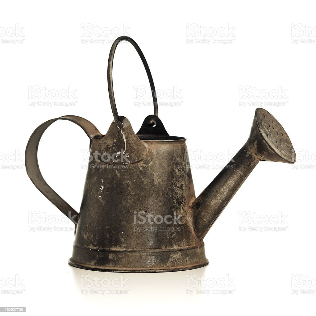 small vintage watering can royalty-free stock photo