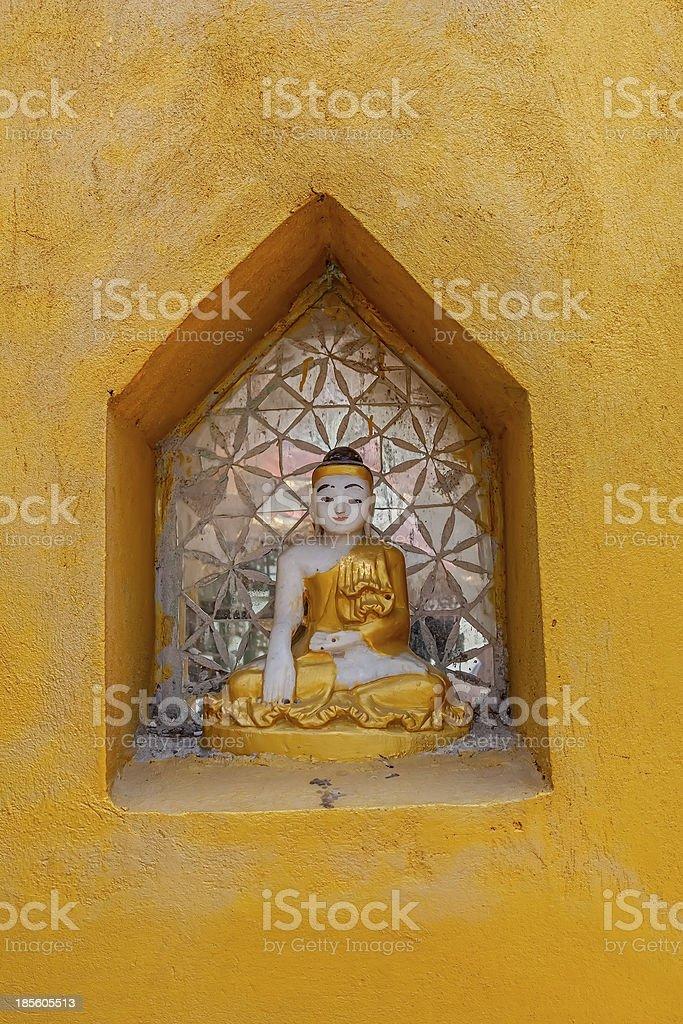 Small votive Buddha royalty-free stock photo