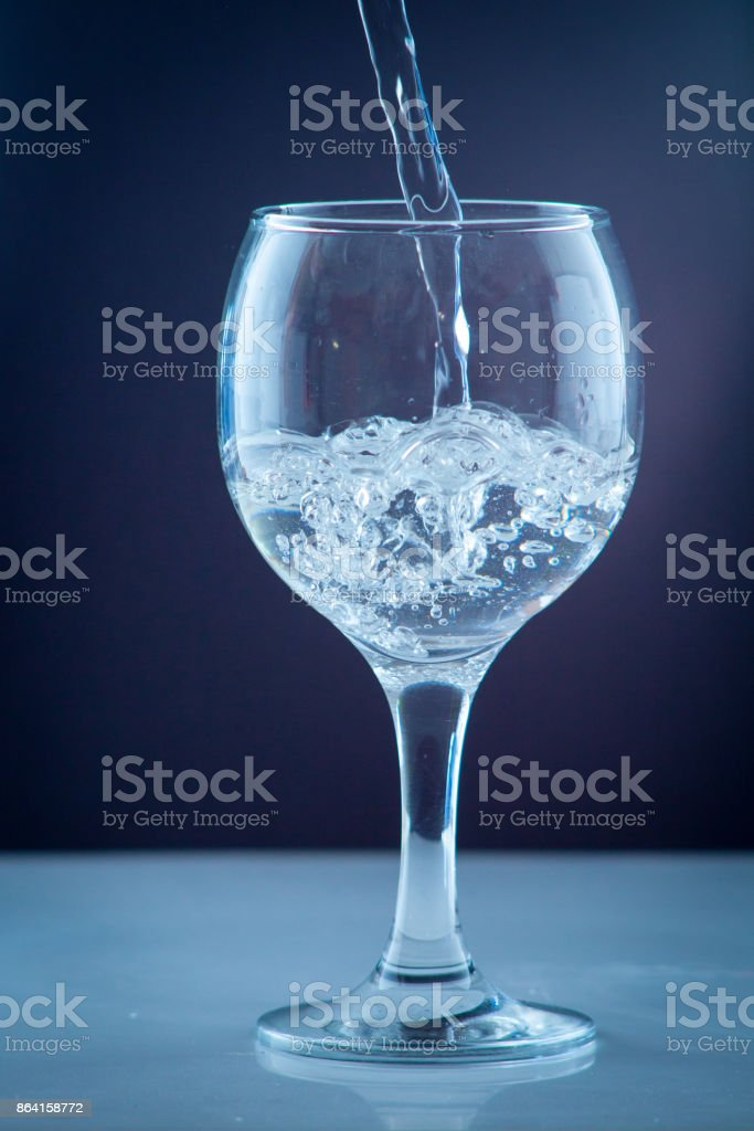 Small water bottle clear drinking cold mineral water royalty-free stock photo