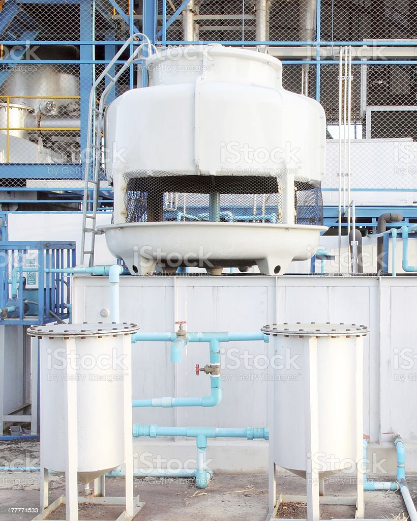small water cooling tower system stock photo