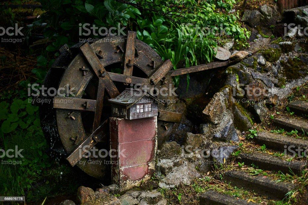 Small water wheel stock photo