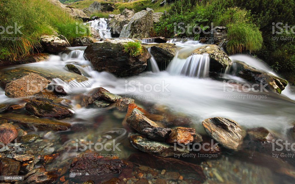 Small waterfal royalty-free stock photo