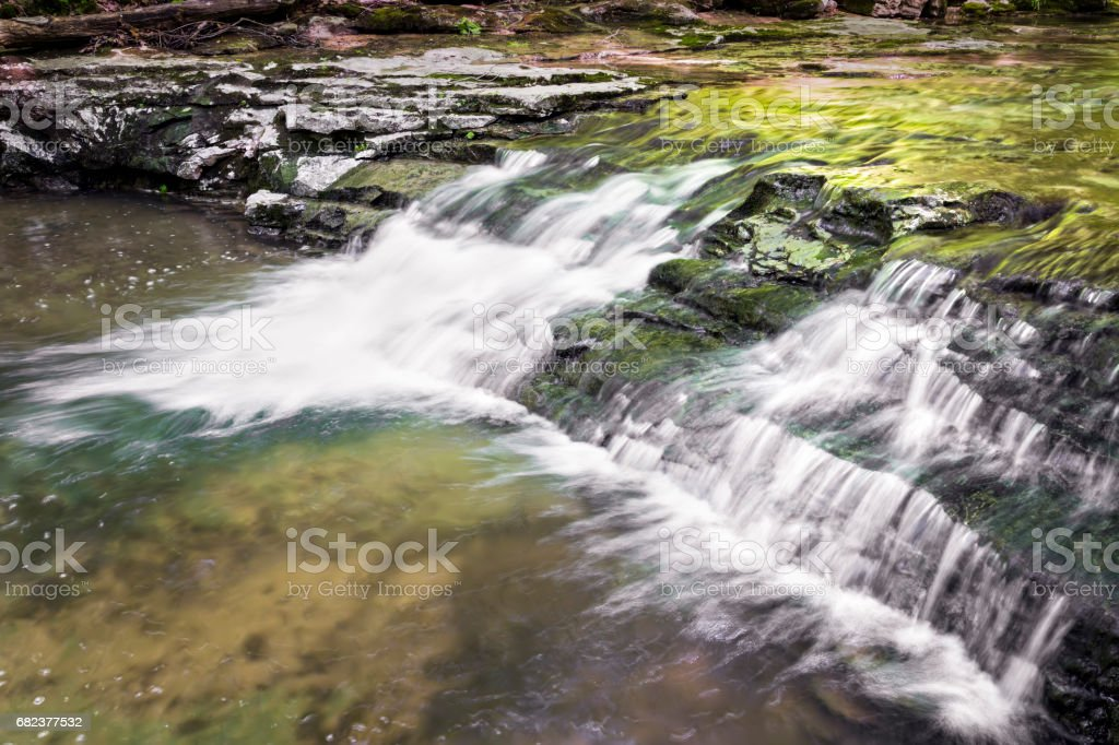 Small Waterfall in the Woods of Indiana royalty-free stock photo