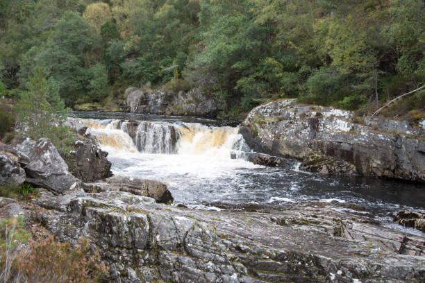 Small waterfall on Black Water stock photo